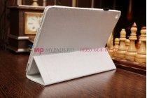 Фирменный чехол-футляр для Acer Iconia Tab A3-A10/A3-A11 белый кожаный