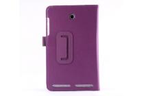 """Фирменный чехол бизнес класса для Acer Iconia Tab 8 A1-840/A1-841 FHD с визитницей и держателем для руки фиолетовый натуральная кожа """"Prestige"""" Италия"""