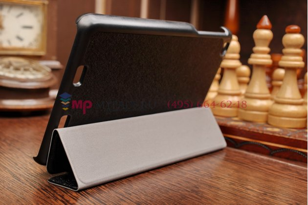 """Фирменный умный чехол самый тонкий в мире для Acer Iconia Tab One B1-730/B7-731HD """"Il Sottile"""" черный пластиковый Италия"""