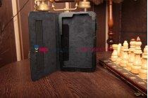 Фирменный чехол-обложка для Acer Iconia Tab W4-820/W4-821 черный кожаный