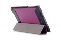 """Фирменный умный тонкий легкий чехол для Acer Predator 8 GT-810 """"Il Sottile"""" фиолетовый пластиковый"""