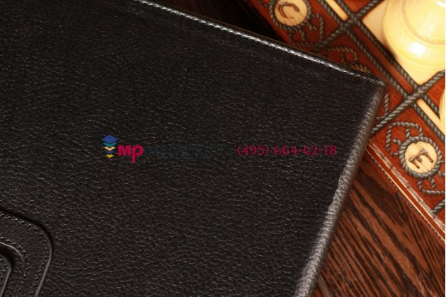 Чехол обложка для Acer Iconia Tab 8.0 A2-810/A2-811 черный кожаный