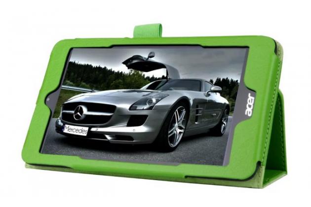 Чехол для Acer Iconia Tab B1-750/B1-751 зеленый кожаный