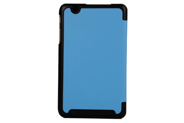 """Фирменный умный чехол-книжка самый тонкий в мире для Acer Iconia Tab B1-750/B1-751 """"Il Sottile"""" голубой кожаный"""