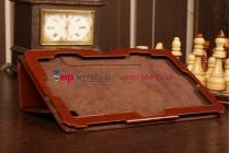 """Фирменный чехол-обложка для Acer Iconia Tab W700/W701 коричневый кожаный """"Премиум"""""""