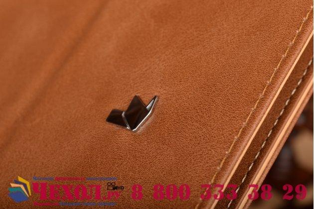 Фирменный премиальный чехол-обложка  с подставкой для Apple MacBook Pro 13 Mid 2012 ( MD101 / MD102) 13.3 из натуральной кожи коричневый