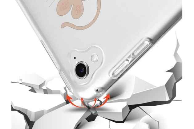 """Фирменная ультра-тонкая полимерная из мягкого качественного силикона задняя панель-чехол-накладка для iPad Pro 9.7"""" тематика """"Черные котики"""""""