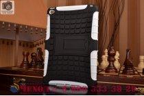 Противоударный усиленный ударопрочный фирменный чехол-бампер-пенал для iPad mini 4 белый