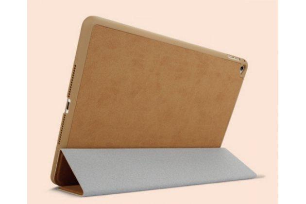 """Элитный чехол-обложка для iPad Air коричневый натуральная кожа """"Luxury"""" Италия"""