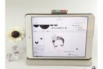 """Чехол для iPad2/3/4 """"тематика модная девушка"""" белый кожаный"""