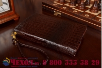 Фирменный роскошный эксклюзивный чехол-клатч/портмоне/сумочка/кошелек из лаковой кожи крокодила для планшетов iPad mini. Только в нашем магазине. Количество ограничено.