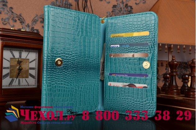 Фирменный роскошный эксклюзивный чехол-клатч/портмоне/сумочка/кошелек из лаковой кожи крокодила для планшетов iPad 4. Только в нашем магазине. Количество ограничено.