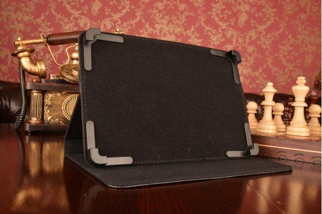 Чехол-обложка для планшета iPad 3 с регулируемой подставкой и креплением на уголки