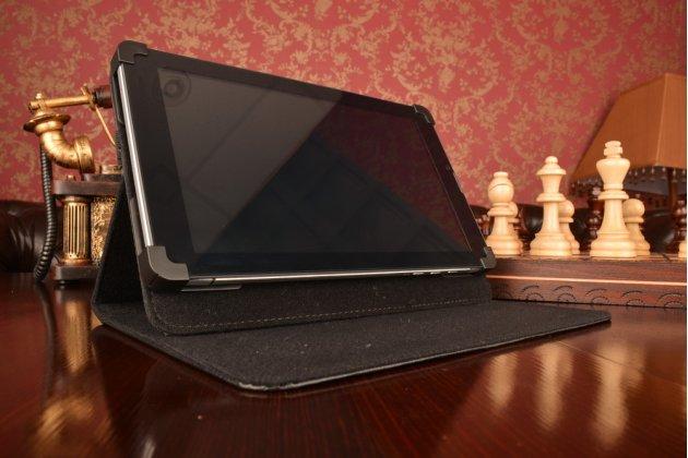 Чехол-обложка для планшета iPad 4 с регулируемой подставкой и креплением на уголки