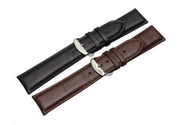 Фирменный сменный кожаный ремешок для умных смарт-часов Motorola Moto 360 2 46mm из качественной импортной кожи + инструменты для вскрытия