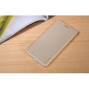 """Фирменный оригинальный водооталкивающий чехол-книжка для Oppo Neo 7"""" золотой"""