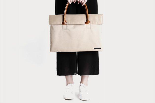 Фирменный оригинальный чехол-сумка с визитницей для Apple MacBook 12 Early 2015 / 2016 / Mid 2017 ( A1534 / A1527) из качественной импортной кожи