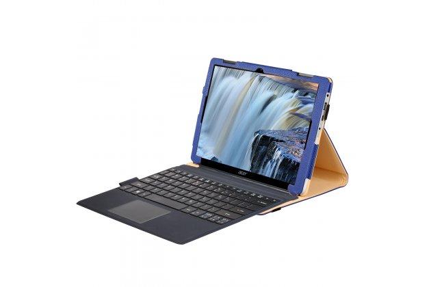 Фирменный оригинальный чехол для Acer Aspire Switch 12 Alpha (NT.LCDER.008) с отделением под клавиатуру черный кожаный