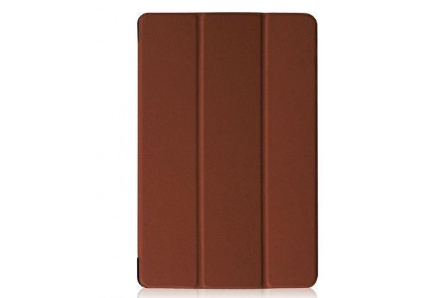 Фирменный умный чехол самый тонкий в мире для Acer Iconia Tab 10 A3-A40 2016 iL Sottile коричневый пластиковый Италия