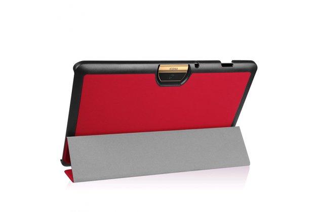 Фирменный умный чехол самый тонкий в мире для Acer Iconia Tab 10 A3-A40 2016 iL Sottile красный пластиковый Италия