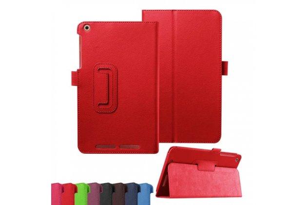 Фирменный чехол-обложка с подставкой для Acer Iconia Tab A1-860 красный кожаный