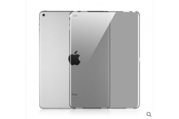 Фирменная ультра-тонкая полимерная задняя панель-чехол-накладка из силикона для iPad Pro 12.9 прозрачная с эффектом тумана