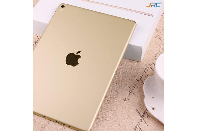Фирменная оригинальная защитная пленка-наклейка на твёрдой основе, которая не увеличивает планшет в размерах для iPad Pro 12.9 золотая