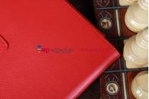 Фирменный чехол-обложка для Acer Iconia Tab A510/A511 красный кожаный
