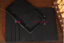Чехол для Acer Iconia Tab W700/W701 поворотный черный кожаный