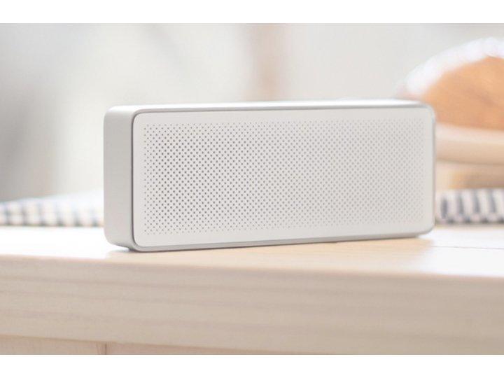 Фирменная портативная акустическая система/ колонка Xiaomi Square box Cube алюминиевый белый Bluetooth 4.0