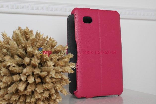 Чехол для Samsung 7.0 P6200 розовый кожаный
